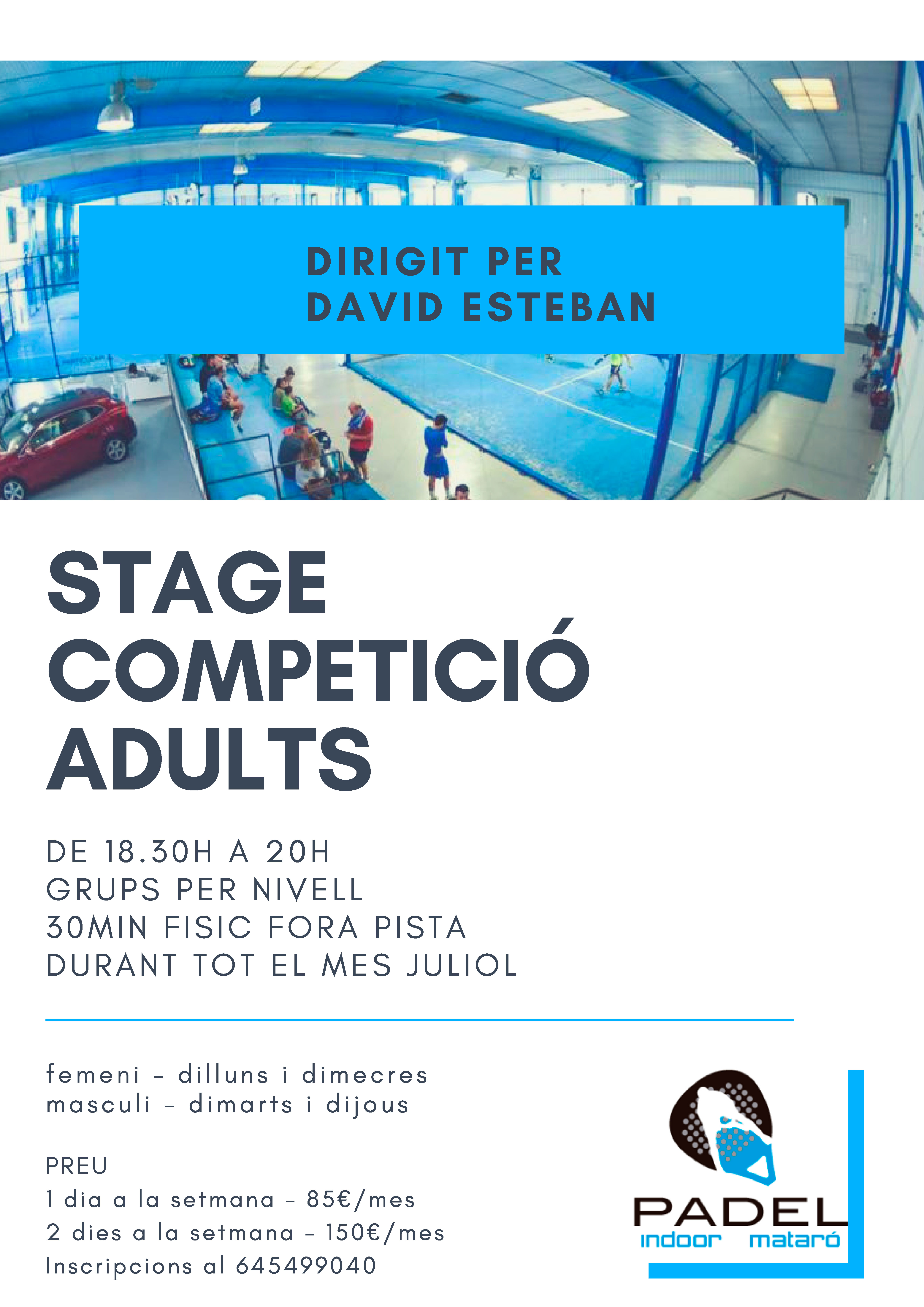 Stage Competició Adults
